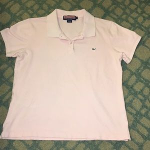 Vineyard vines pink size girls sz large polo shirt